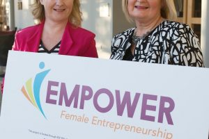"GMIT iHUBS LAUNCH ""EMPOWER"" – A NEW ENTRENPRENEURSHIP PROGRAMME FOR WOMEN ?Successful women entrepreneurs to attended the launch in the Connacht Hotel of  ""EMPOWER"" – A NEW ENTRENPRENEURSHIP PROGRAMME FOR WOMEN ?At the launch were Caroline Gordon Castlebar Network ireland and Una Murphy Network Mayo Westport . ?Despite national recognition of female entrepreneurs, Ireland suffers from a low number of women engaged in business startups. Female-led businesses remain an underdeveloped source of economic growth and jobs. As part of a drive to increase the number of female entrepreneurs in Galway, Mayo and Roscommon, GMIT Innovation Hubs will deliver a new regional programme called ""EMPOWER"", commencing September in GMIT's Galway and Mayo campuses.  Funded by the Department of Justice and Equality and the European Social Fund, the EMPOWER programme aims to fast track female-led businesses by addressing specific challenges hindering their development.  Photo:Andrew Downes, xposure"